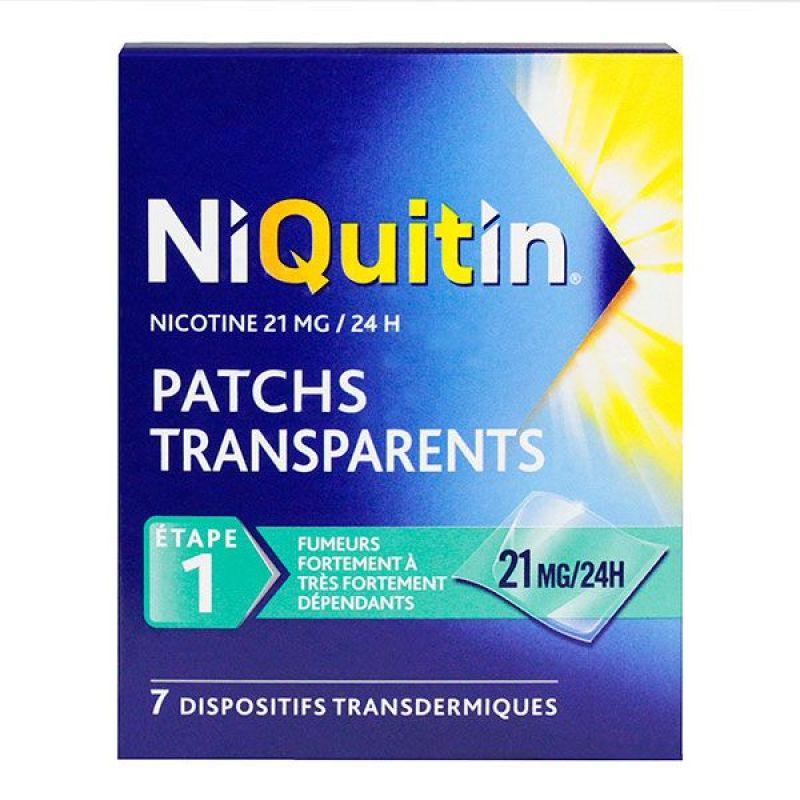7 patchs transparents 21mg