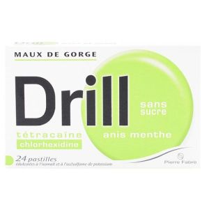 Drill anis menthe 24 pastilles