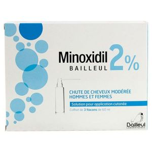 Minoxidil 2% solution cutanée 3x60ml