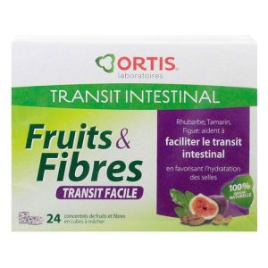 Fruits & fibres transit facile 24 cubes