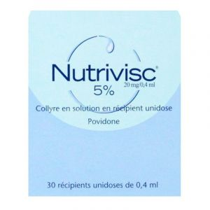Collyre Nutrivisc 5% 30x0,4ml
