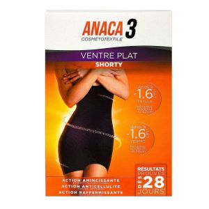 Anaca3 shorty ventre plat noir L/XL