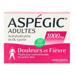 Aspégic adultes 1000 mg 30 sachets