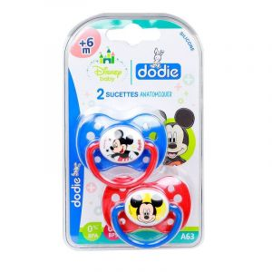 2 Sucettes anatomiques +6 mois Disney Mickey