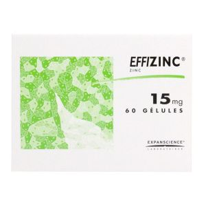 Effizinc 15mg - 60 gélules