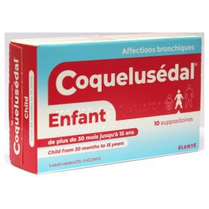 10 Suppositoires Coquelusédal enfant