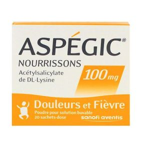 Aspégic 100mg enfants 20 sachets