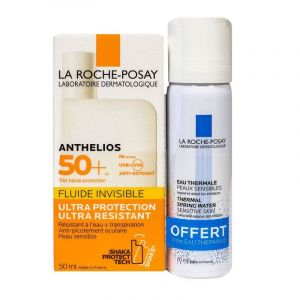 Anthelios - Fluide solaire 50 ml + Eau thermale 50 ml