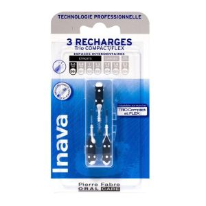 3 brossettes interdentaires recharges 0 Trio Compact/Flex