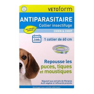 Collier antiparasitaire insectifuge chien & chiot