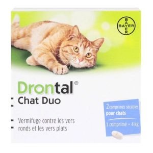 Bayer Drontal chat duo 2 comprimés