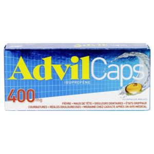 14 capsules molles AdvilCaps 400mg
