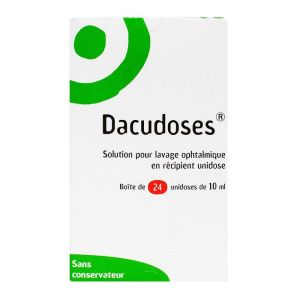 Dacudoses solution ophtalmique 24 unidoses