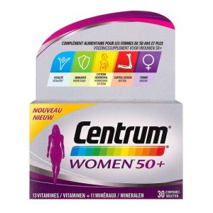 Women 50+ Centrum 30 comprimés