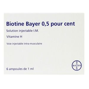 Biotine 0,5% solution injectable I.M 6 ampoules