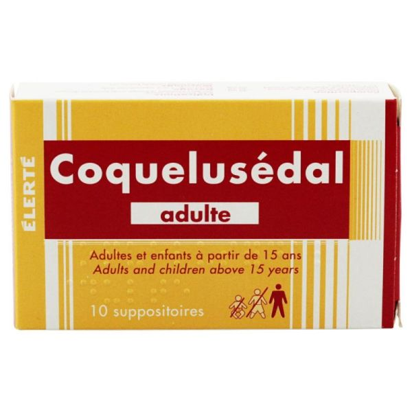 10 Suppositoires Coquelusédal adulte